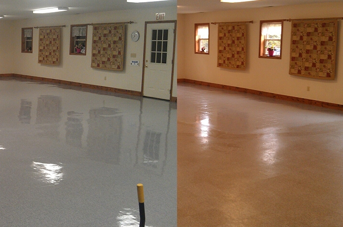 Hard Surface Cleaning Before and After